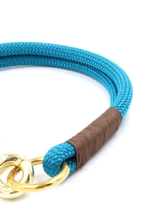 Tauhalsband Aqua detail