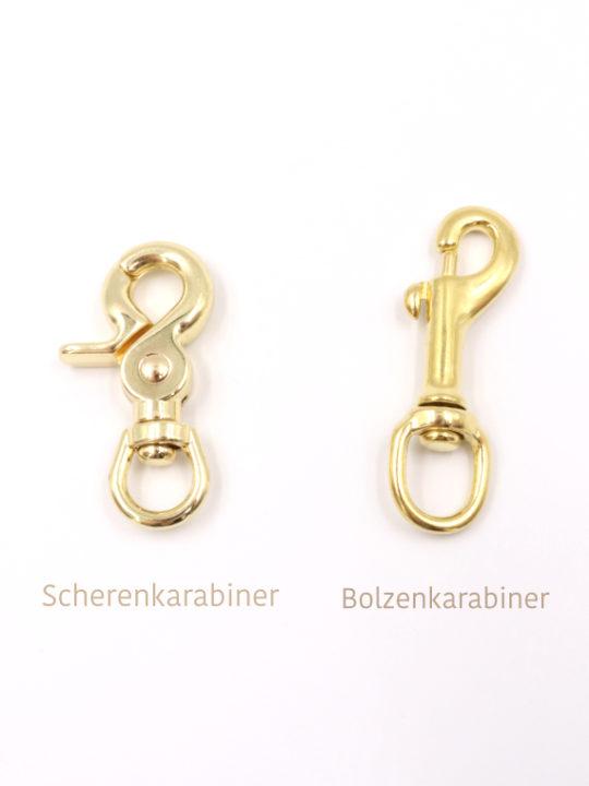 Vergleich Bolzenkarabiner Scherenkarabiner