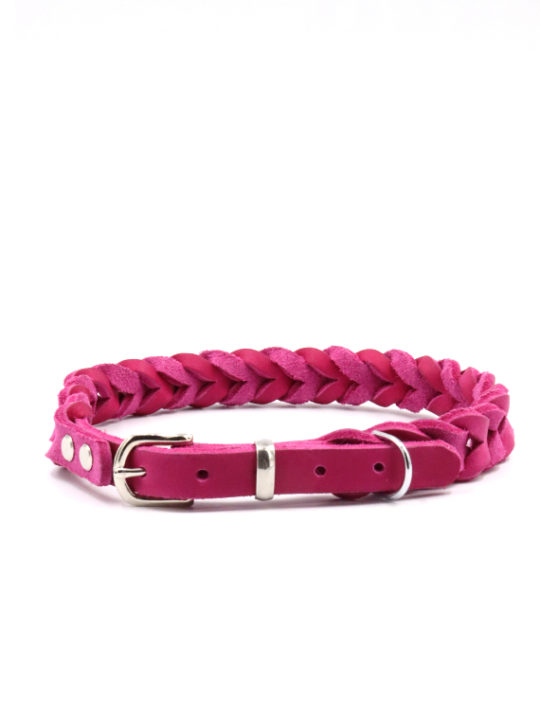 Lederhalsband Anchor in Pink Cover