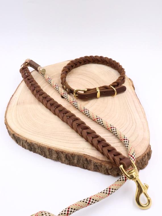 Set London Halsband und Leine Cover
