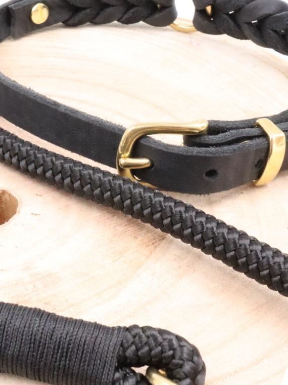 Set Madrid Halsband und Leine Nah
