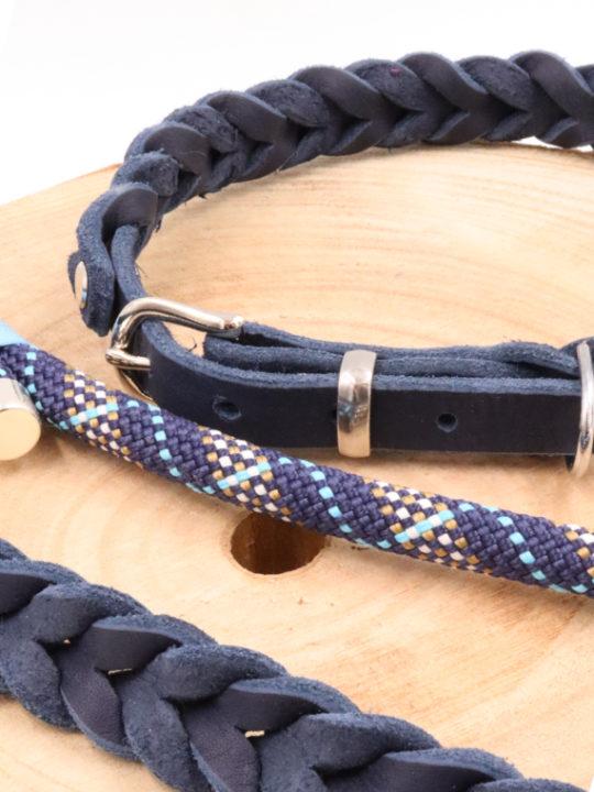 Set Oslo Halsband und Leine Nah