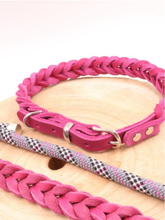 Set Paris Halsband und Leine Nah