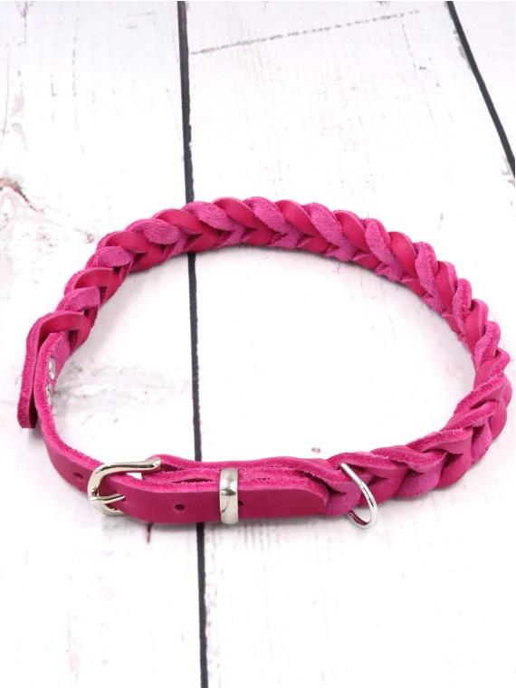 Lederhalsband Anchor in Pink Sale Angebot