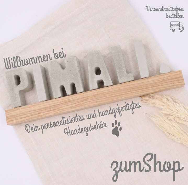 Banner Pimali Willkommen Shop
